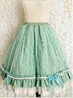 Elasticized Waist Delicate Petticoat with Layered Hemline by Strawberry Witch