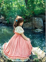 Custom Size Available Ruffle Neckline and Decorative Buttons Bodice JSK by Strawberry Witch