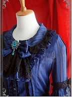 Custom Size Available Layered Trumpet Sleeves Buttons Front Blouse by Strawberry Witch