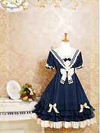 Custom Size available Sailor Collar Short Sleeves OP by Strawberry Witch