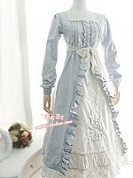 Custom Size Available Square Neckline Rose Embroidery Fake Two-Pieces OP by Strawberry Witch