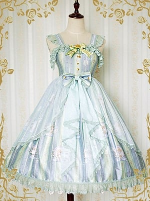Little Angels Striped Empire-Line JSK by Strawberry Witch