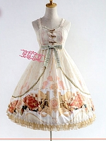 Custom Size Available The Adventures of the Clock Sweetheart Neckline JSK by Strawberry Witch
