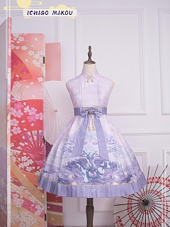 Cherry Blossoms and Water Lights Cheongsam JSK by Strawberry Witch