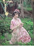 Pre-order Cherry Blossoms and Water Lights Tulle Cape by Strawberry Witch