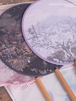 Pre-order Cherry Blossoms and Water Lights Circular Fan by Strawberry Witch
