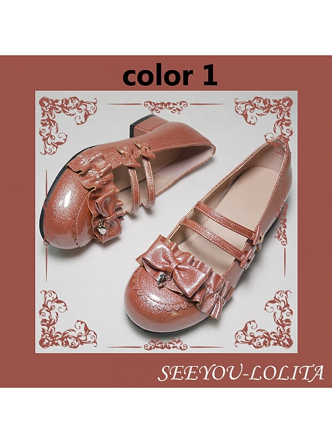 Little Sweet Grapefruit Low-heel Shoes Special Color by See You Lolita
