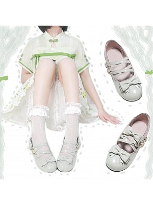 Little Milk Grapefruit Low-heel Shoes by See You Lolita