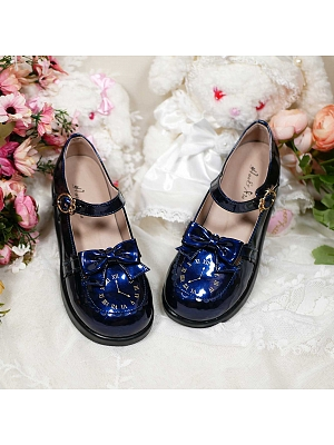 Little Clock Flat-bottom Shoes by See You Lolita