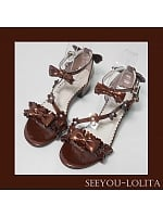 Anohana Low-heel Sandals by See You Lolita