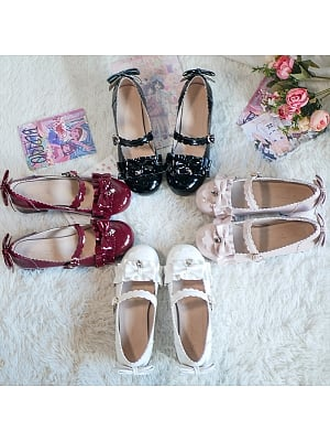 Sweet Round Head Low-heel Lolita Shoes by See You Lolita