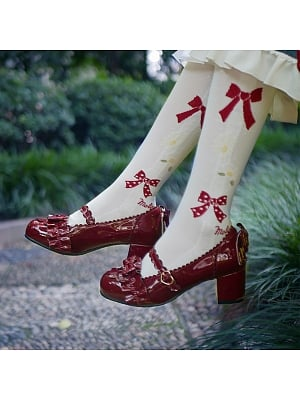 Sweet Round Head Mid-heel Lolita Shoes by See You Lolita