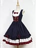 Bow Decorated Neckline Layered Skirt Lolita JSK (Two Versions Available) - Snow White by Souffle Song