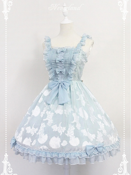 Custom Size Available Ruffled Straps And Bodice With Bows Decoraion Summer Secrets JSK- by Souffle Song