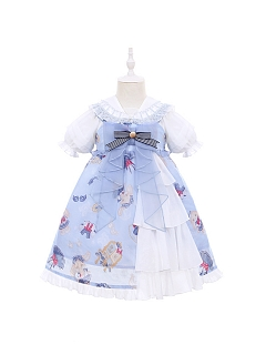 Sailor Bunny Prints JSK for Kids by To Alice