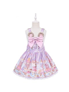 Sweet Mouse Prints Kids Strap Dress Doll Paradise by To Alice
