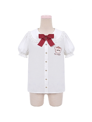 Idyllic Bear Biscuit Plaid JSK Matching Shirt by To Alice