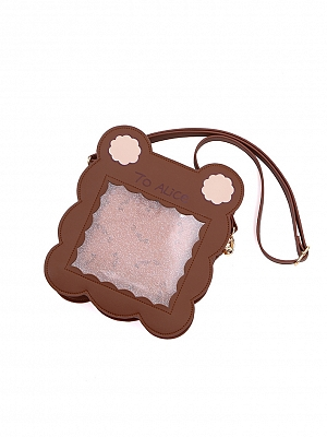 Idyllic Bear Biscuit Plaid Messenger Bag by To Alice