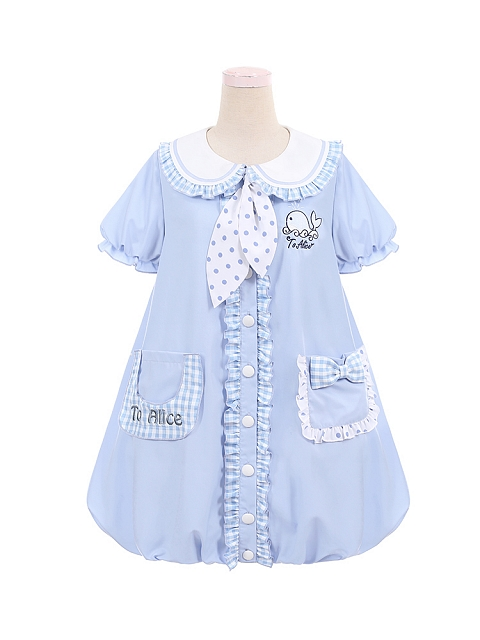 Summer Whale Strawberry Flower Bud Dress New Color by To Alice