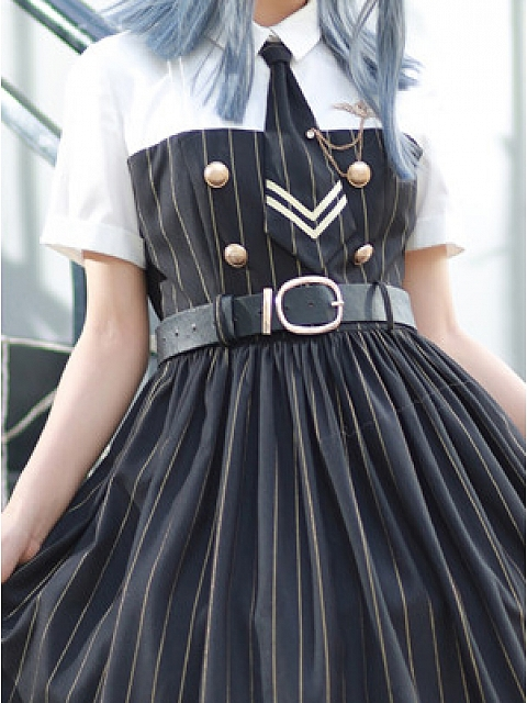 Covenanter Military Style Lolita Dress OP Matching Waistband by To Alice