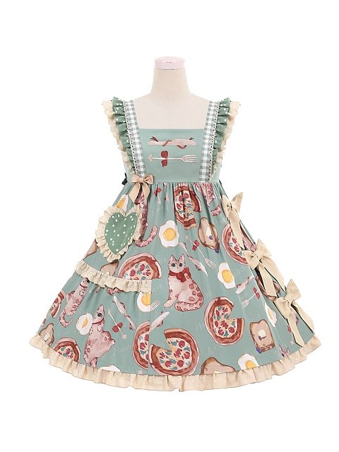 Pizza Cat Sweet Lolita Dress JSK Doll Paradise by To Alice