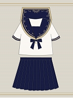The Zodiac JK Uniform Set Top And Skirt by To Alice