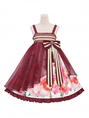 Floating Life Dream Painting Qi Lolita Dress JSK Doll Paradise by To Alice