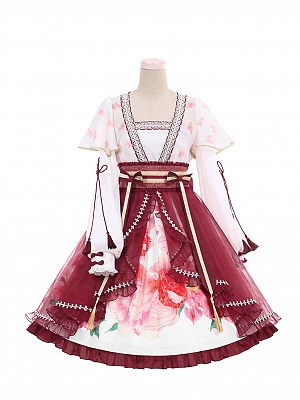 Floating Life Dream Painting Qi Lolita Dress OP Doll Paradise by To Alice