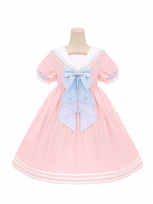 Summer Coast Sweet Lolita Dress OP Doll Paradise by To Alice