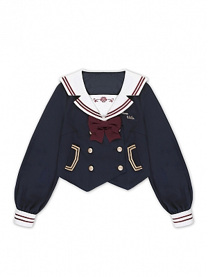 Snow White Double-breasted Sailor Collar JK Uniform Top by To Alice