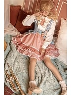 Musical Note Idol Lolita Strap Dress Matching Shirt Doll Paradise by To Alice