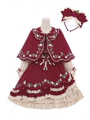 Strawberry Little Red Riding Hood Lolita Dress Full Set by To Alice
