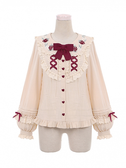 Strawberry Little Red Riding Hood Lolita Matching Shirt by To Alice