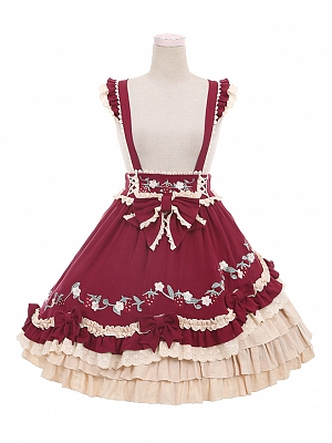 Strawberry Little Red Riding Hood Lolita Matching Strapdress by To Alice