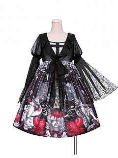 Strawberry Vampire Halloween Gothic Lolita Dress OP by To Alice