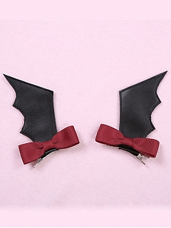 Rose Cross Lace Halloween Gothic Lolita Matching Hairclips by To Alice