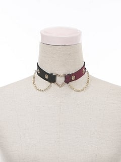 Magic Girls Trainee Plaid Patchwork Lolita Matching Choker by To Alice