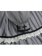 Death Contract Striped Lolita Set Dress OP by To Alice