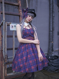 Nautical Nocturne Plaid Lolita Dress JSK by To Alice