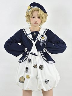 Little Penguin Navy Style Lolita Dress OP by To Alice