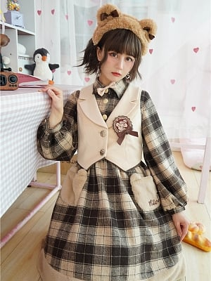 Detective Bear Lolita Dress OP / Vest by To Alice