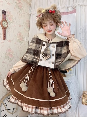 Detective Bear Series Lolita Cape by To Alice