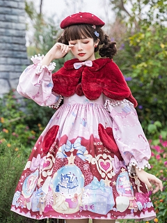 Snowfall Christmas Lolita Dress OP Set OP / Cape by To Alice