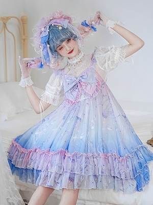 Sweet Jellyfish Lolita Dress Empire Waist JSK by The Ann of April