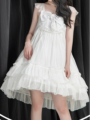 Black and White Jellyfish Lolita Dress JSK by The Ann of April
