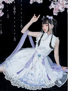 Cloudland Cheongsam Collar Qi Lolita Dress by To Create