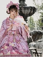 Falling Sakura Wa Lolita Dress JSK Full Set by Garden Cat