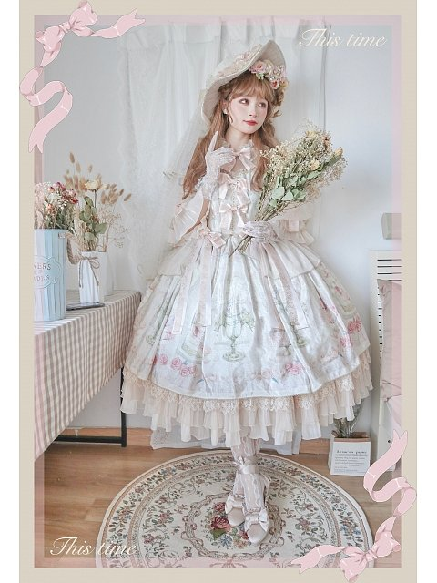 First Love to Be Continued Floral Series Lolita Dress Gorgeous Version OP by This Time