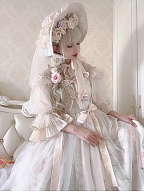 First Love to Be Continued Floral Series Lolita Dress Matching Hat by This Time