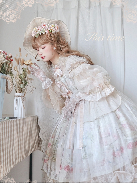 First Love to Be Continued Floral Series Lolita Dress Matching Hanamaru by This Time
